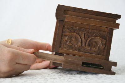 Şifreli kızaklı ahşap kutu (minik boy)